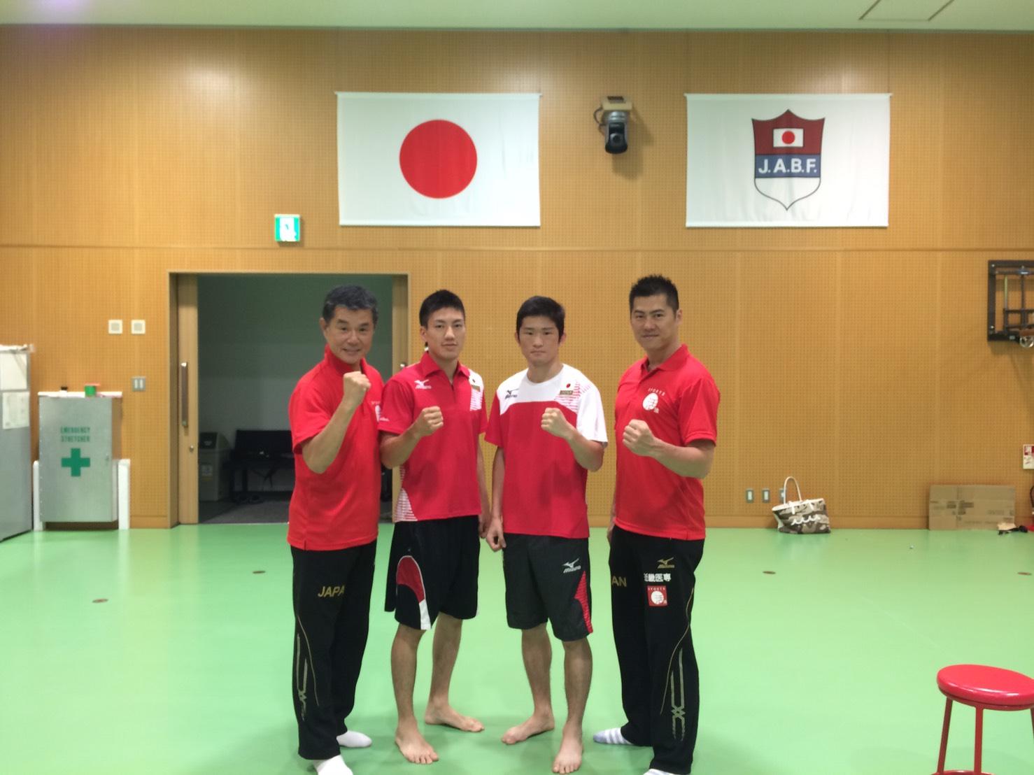 日本ボクシング連盟の合宿にトレ...