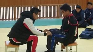 田中理事と一人の選手