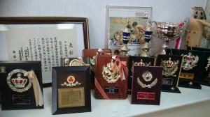 飾られているメダルの数々