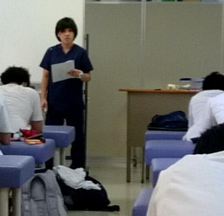 影山先生の教育実習の様子①